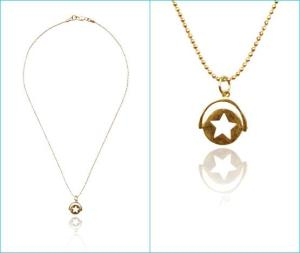 Spinning Gold Star Necklace