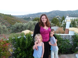 The beautiful hills of Frigilliana, Spain