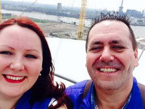 O2 selfie with my dad!