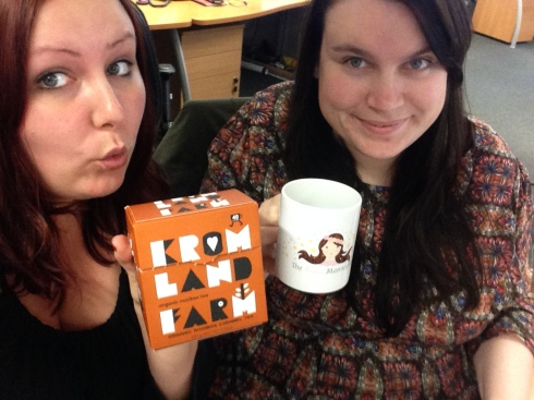 Me and fellow blogger Sally showing how 'wow' we are about this tea :-)