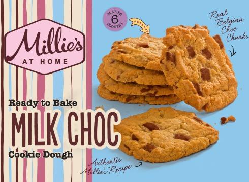 Ready to Bake Millie's Cookies - Milk Choc