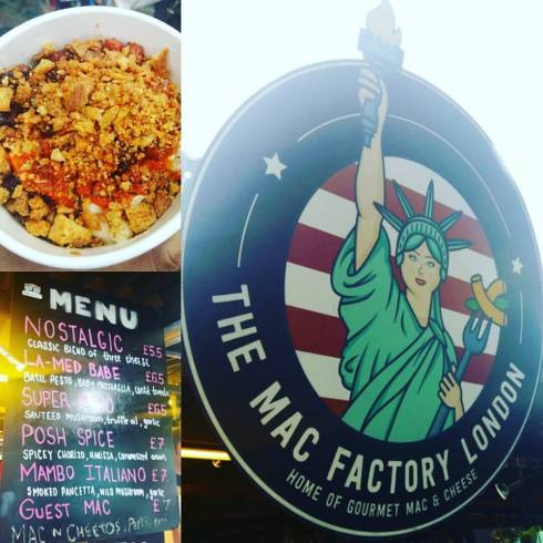 The Mac Factory - OMG, I don't usually rate mac and cheese, its a home food and I wouldn't pay for it. How wrong I was - this crispy topped chorizo filled mac and cheese blew my mind!