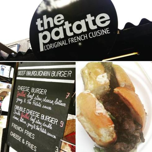 The Patate - French burgers, think tender tender brisket oozing in raclette chees. or blus cheese - any cheese they offer please it is french after all! ;-)