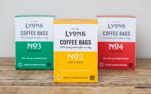 UCC Lyons Coffee Bags packaging